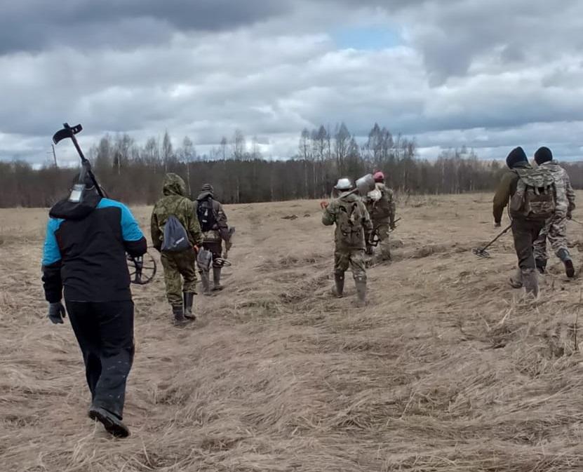 Поисковики подняли останки 5 бойцов