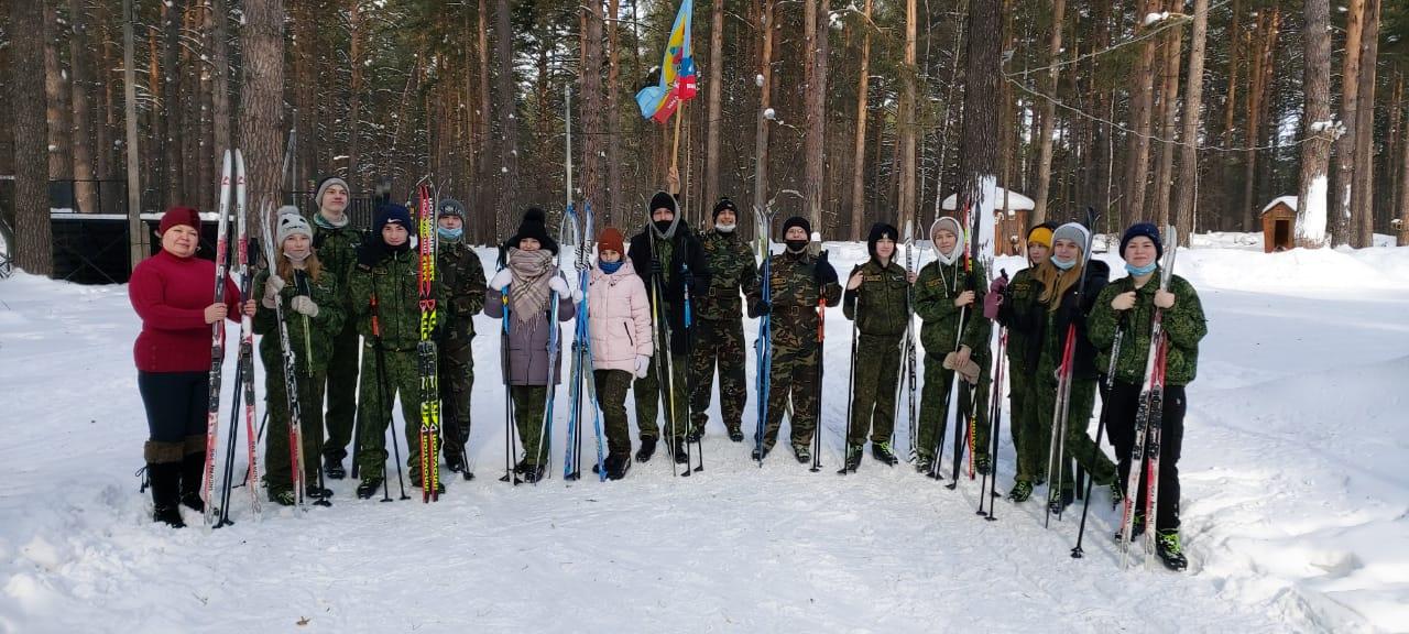 Лыжный поход в честь воинов 166-й дивизии