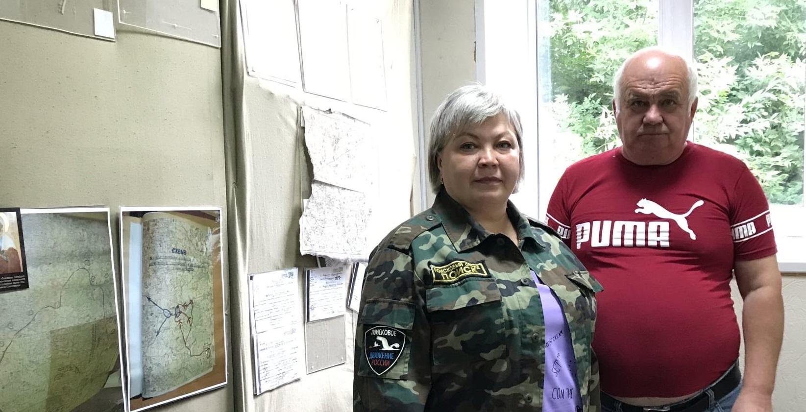 Поисковики встретились с родственником бойца 166-стрелковой дивизии